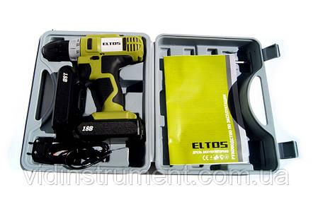 Шуруповерт аккумуляторный Eltos ДА-18 Li-Ion (2 аккумулятора), фото 2