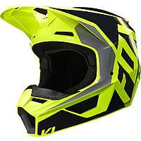 Детский мотошлем Fox YTH V1 PRIX Helmet черный/желтый, YM, фото 1