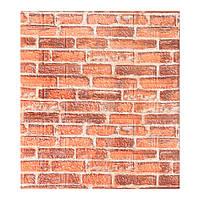 Самоклеящиеся 3d панели для стен обои екатеринославский кирпич рыжий Sticker Wall 700x770x7мм.