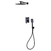 De la Noche черная душевая система скрытого монтажа Volle 10-40-9400-black