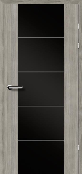 """Міжкімнатні двері Брама 17.3 М чорне скло серія """"Тренд"""""""