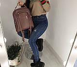 Замшевая сумка рюкзак женская Турция Разные цвета, фото 2