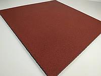 Резиновая плитка для спортзала 1000х1000 мм. Толщина 10 мм. Красная.