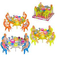 Мебель для кукол 66-25 посуда, продукты, в слюде
