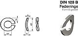 DIN 128 B : нержавеющая шайба пружинная, форма В (волнистая), фото 2