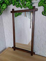 """Дзеркало в дерев'яній рамці для передпокою """"Жаклін - 2"""" від виробника"""