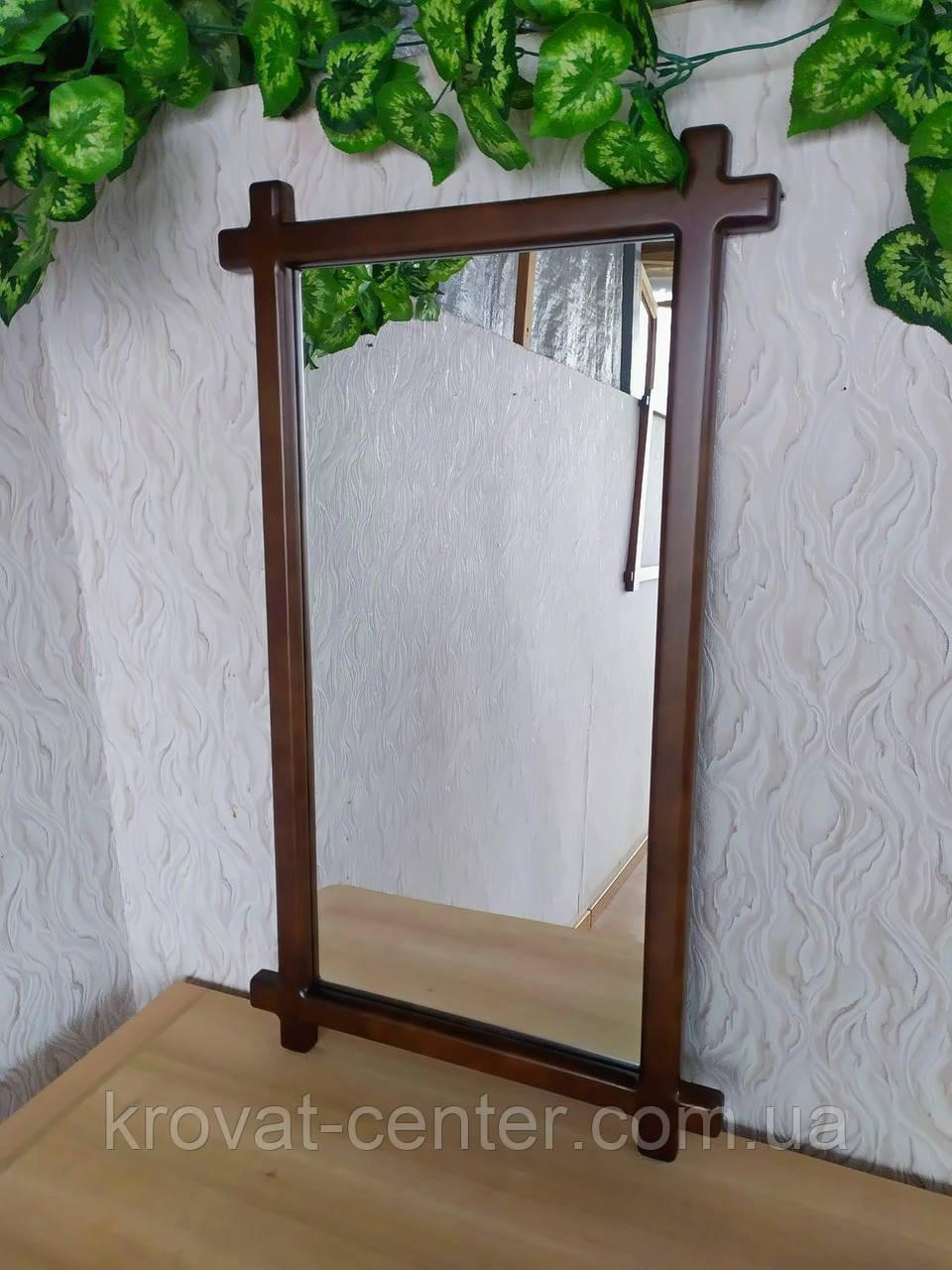 """Зеркало в деревянной рамке для прихожей """"Жаклин - 2"""""""