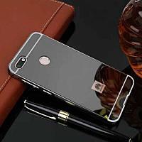 Чехол бампер для Huawei Nova Lite зеркальный черный
