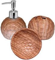 """Набор аксессуаров """"Бук"""" для ванной комнаты 3 предмета, керамика"""
