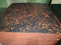 Резиновая плитка для спортзала 1000х1000 мм. Толщина 6 мм.Красная., фото 1