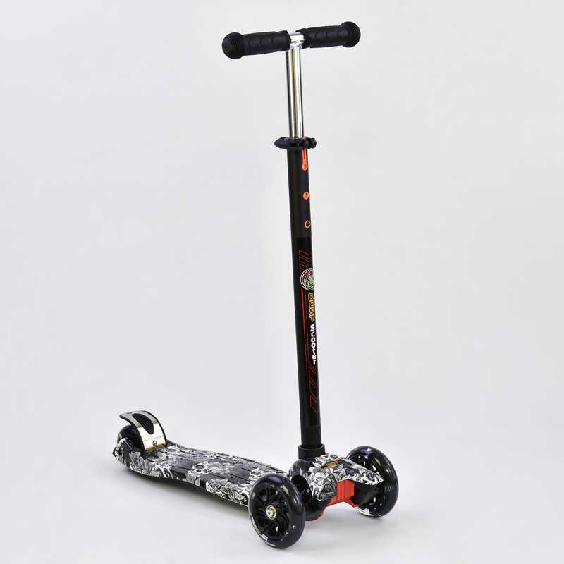 Самокат А 25465 /779-1320 MAXI Best Scooter пластмассовый, 4 колеса PU, СВЕТ