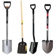 Лопаты, скреперы, тележки