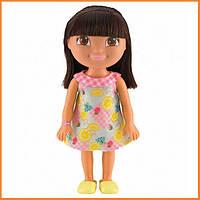 Кукла Даша Путешественница в платье с розовой клеткой / Dora the Explorer Fisher Price