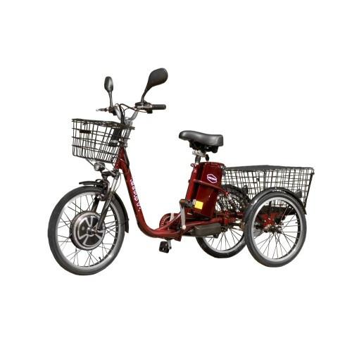 Трехколесный электровелосипед HAPPY 350 (Красный) (трицикл) + реверс!