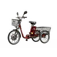 Трехколесный электровелосипед HAPPY 350 (Красный) (трицикл) + реверс!, фото 1