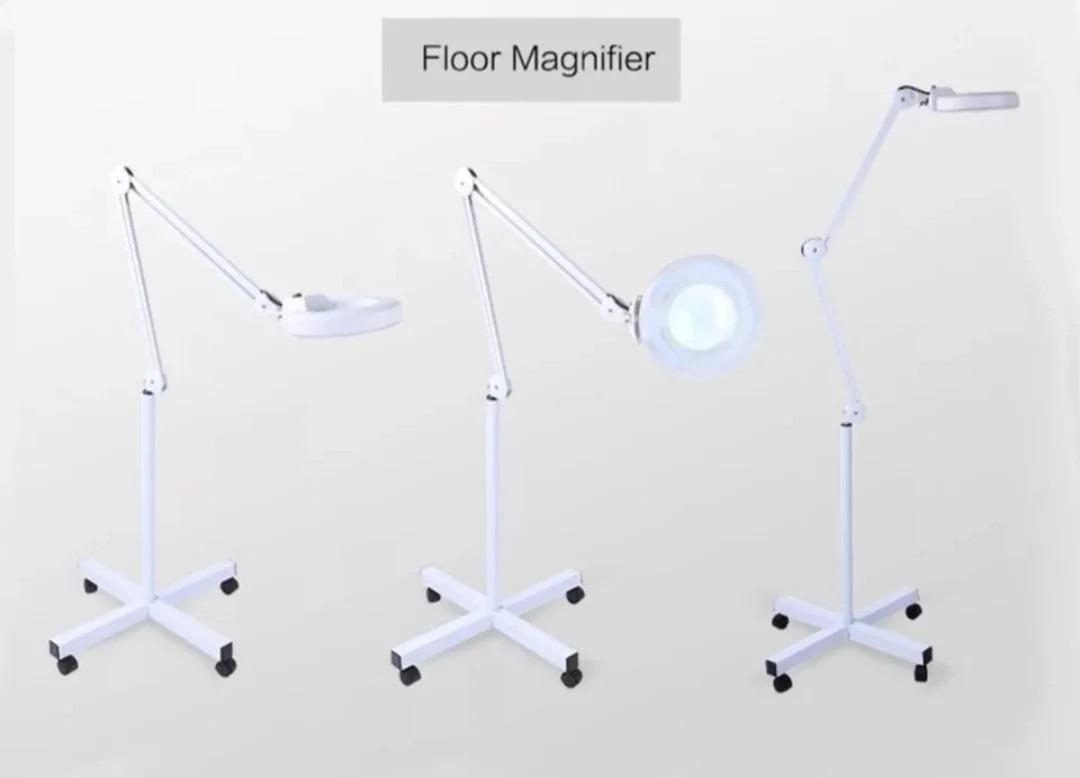Лампа-лупа підлогова пересувна
