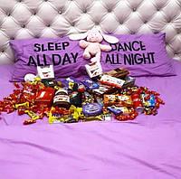 Двуспальный комплект постельного белья фиолетовый