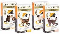 БИОРИТМ витаминно-минеральный корм для кошек со вкусом курицы, уп. 48 таб.