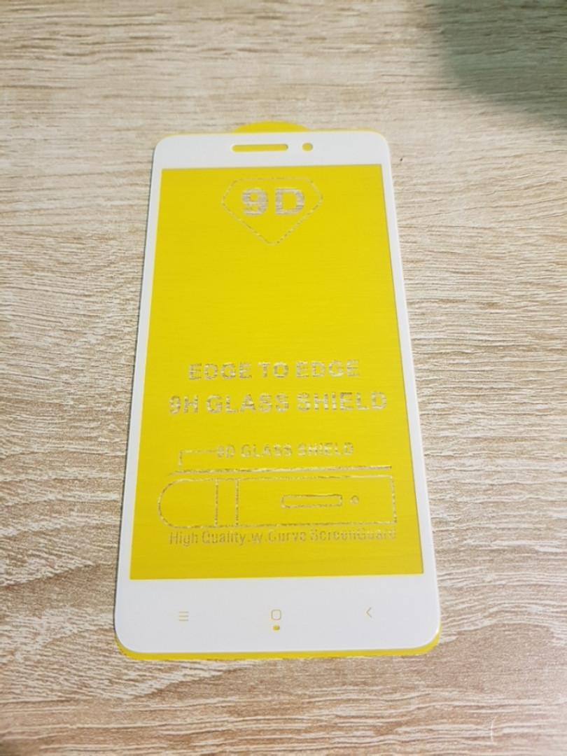 Защитное стекло Xiaomi Redmi 4a белое клей по всей поверхности