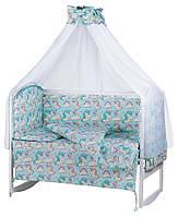 Дитяча постіль Babyroom Comfort-08 unicorn блакитний (єдинороги), фото 1