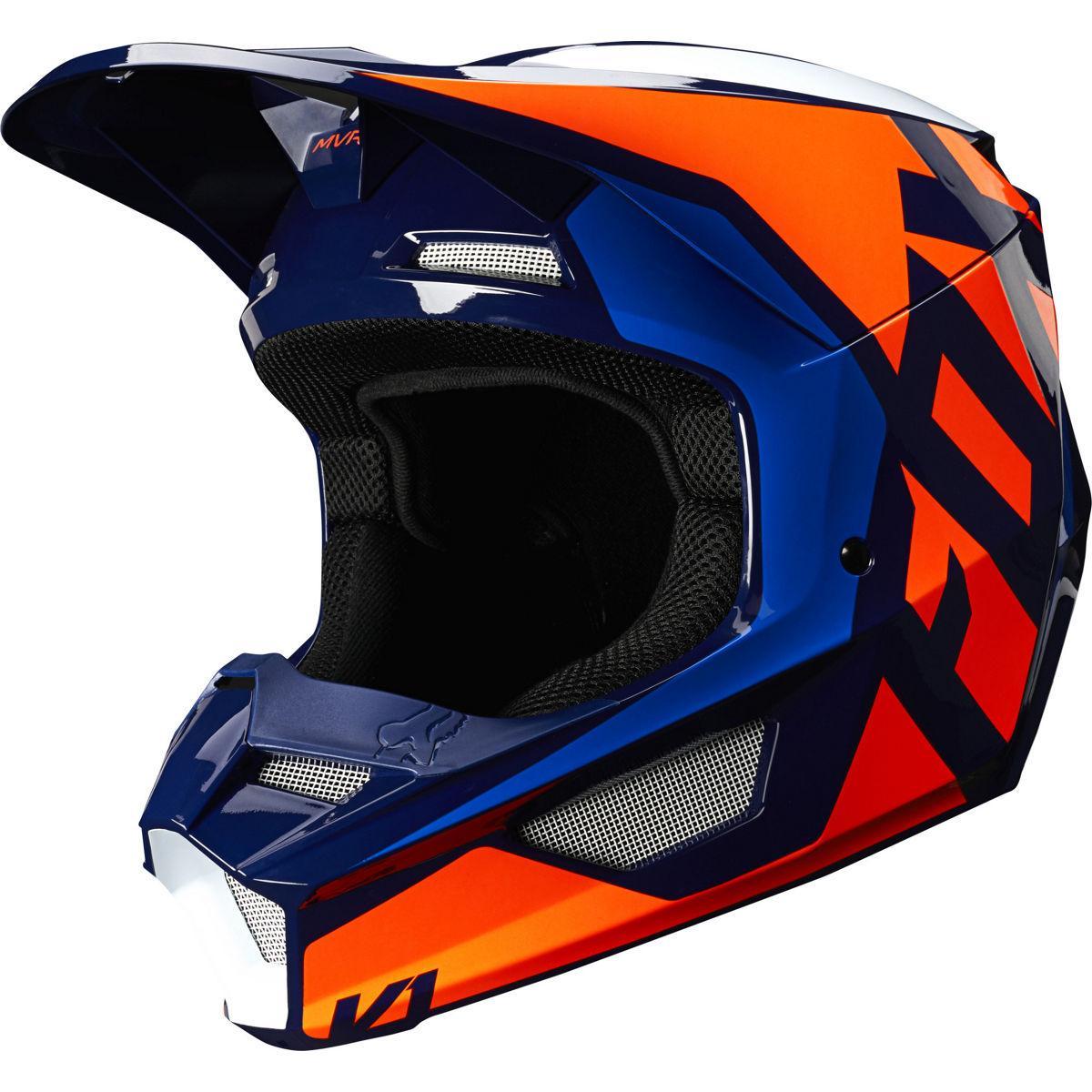 Мотошлем Fox V1 PRIX Helmet оранжевый/синий, XXL