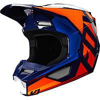 Мотошлем Fox V1 PRIX Helmet оранжевый/синий, XXL, фото 1