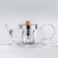 """Стеклянный заварник для чая """"Гармония"""" Chikao 800мл"""