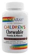 Детские жевательные, Solaray, Children's Chewable Vitamins and Minerals 120 Chewables