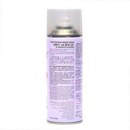 Акриловый лак (№191) прозрачный матовый BOSNY 400мл, фото 2