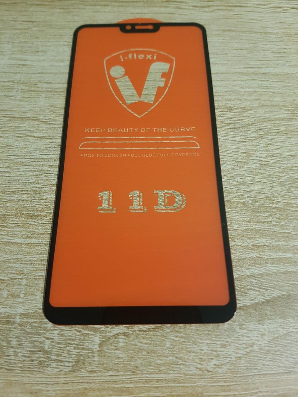 Защитное стекло Xiaomi Mi8 Lite черное клей по всей поверхности