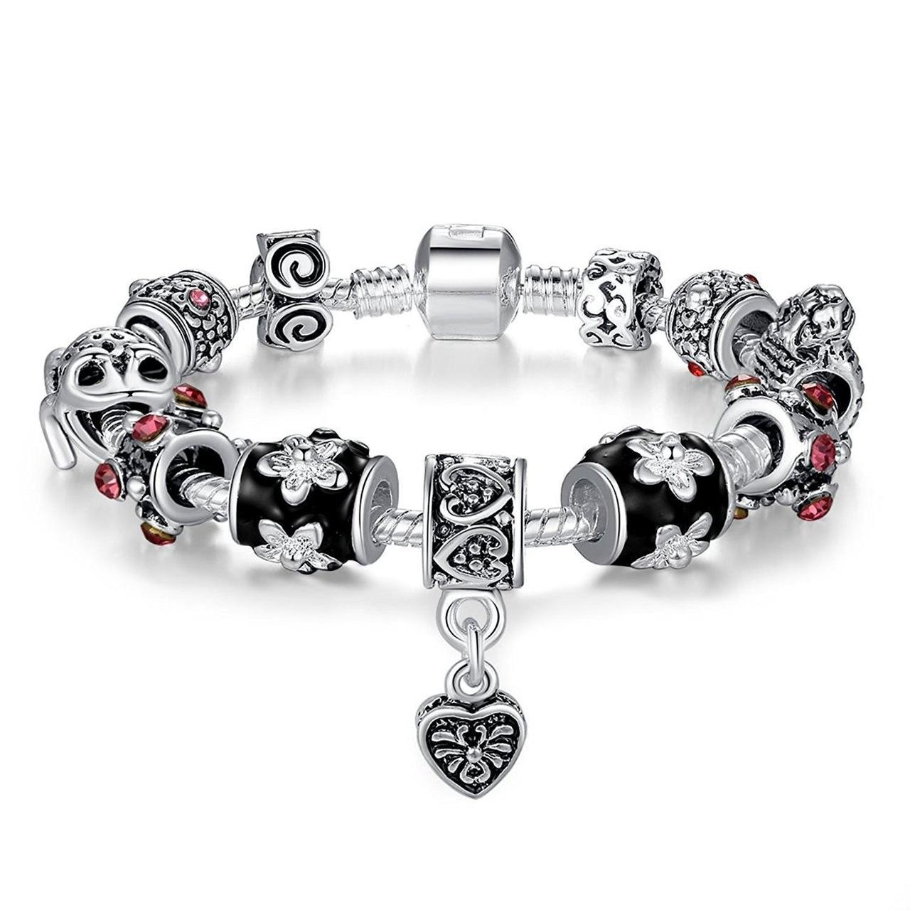 Браслет с шармами Pandora Style (стиль Пандора)