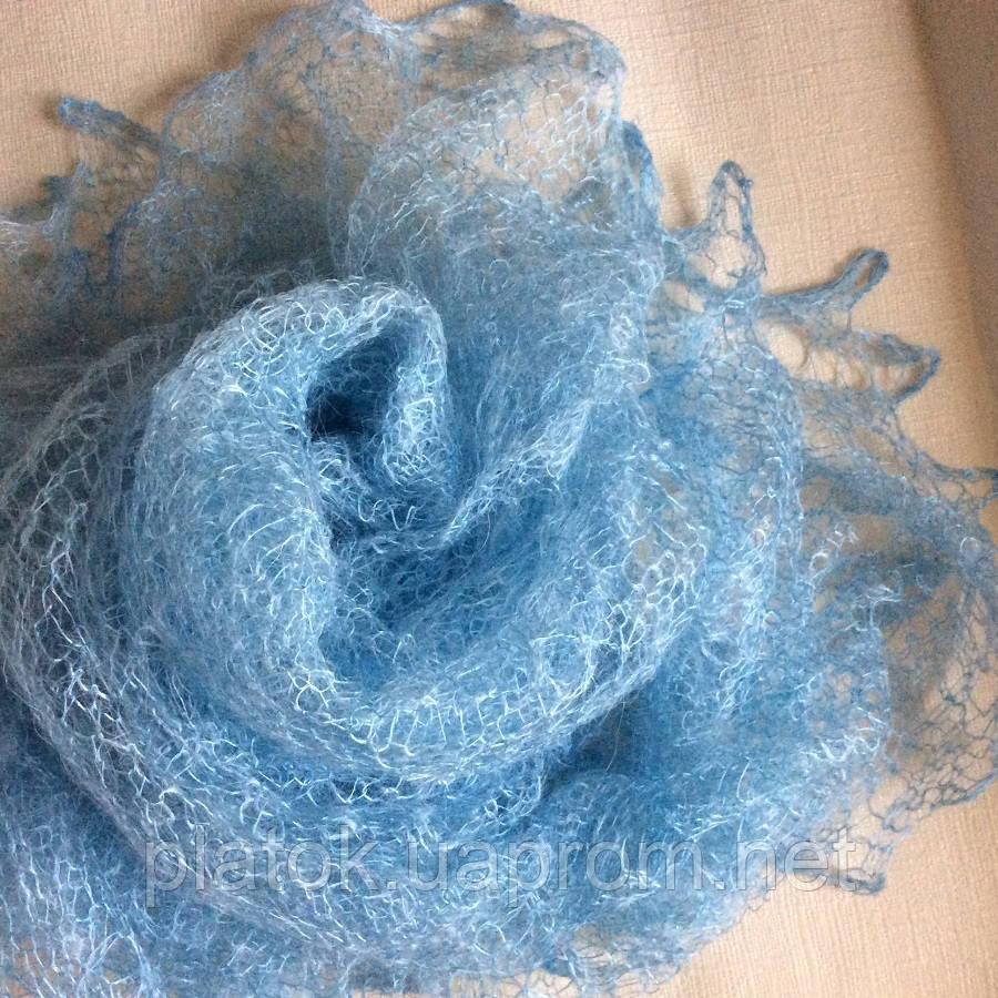 Паутинка Пастели Оренбурга  Ш-00014, цвет голубой
