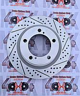 Диск тормозной передний R1 CONCEPTS CARBON GEOMET  Toyota LC200 / LX570 2015+ 354 мм, фото 1