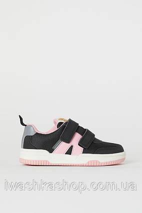 Непромокаемые черные кроссовки с отражателями на девочек 32 р., H&M