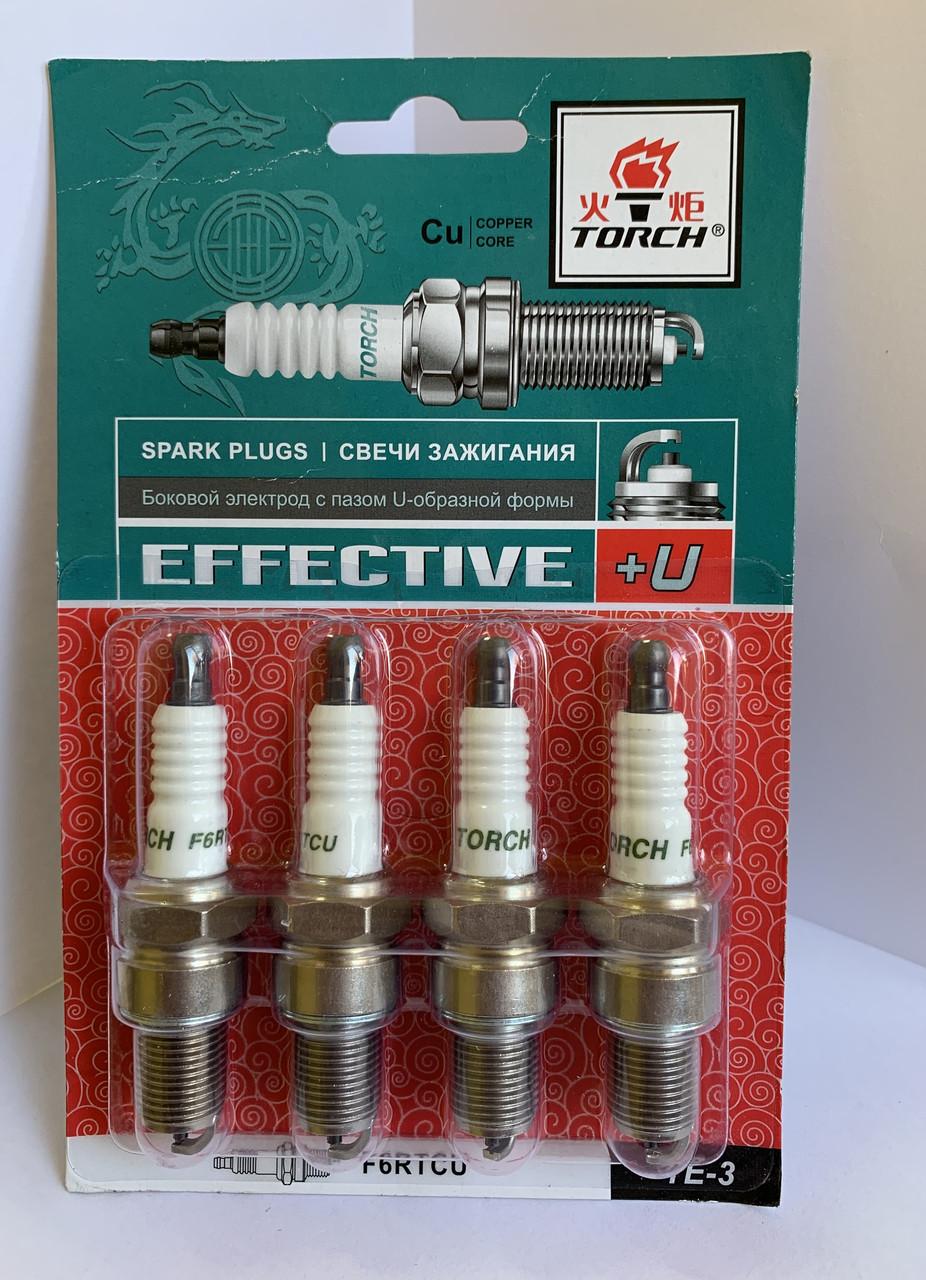 "Свічка запалювання EFFECTIVE+U ВАЗ 2101-10, ГАЗ 3302, ЗАЗ 1102, Daewoo Sens, Lanos, Chevrolet Aveo ""Torch"""