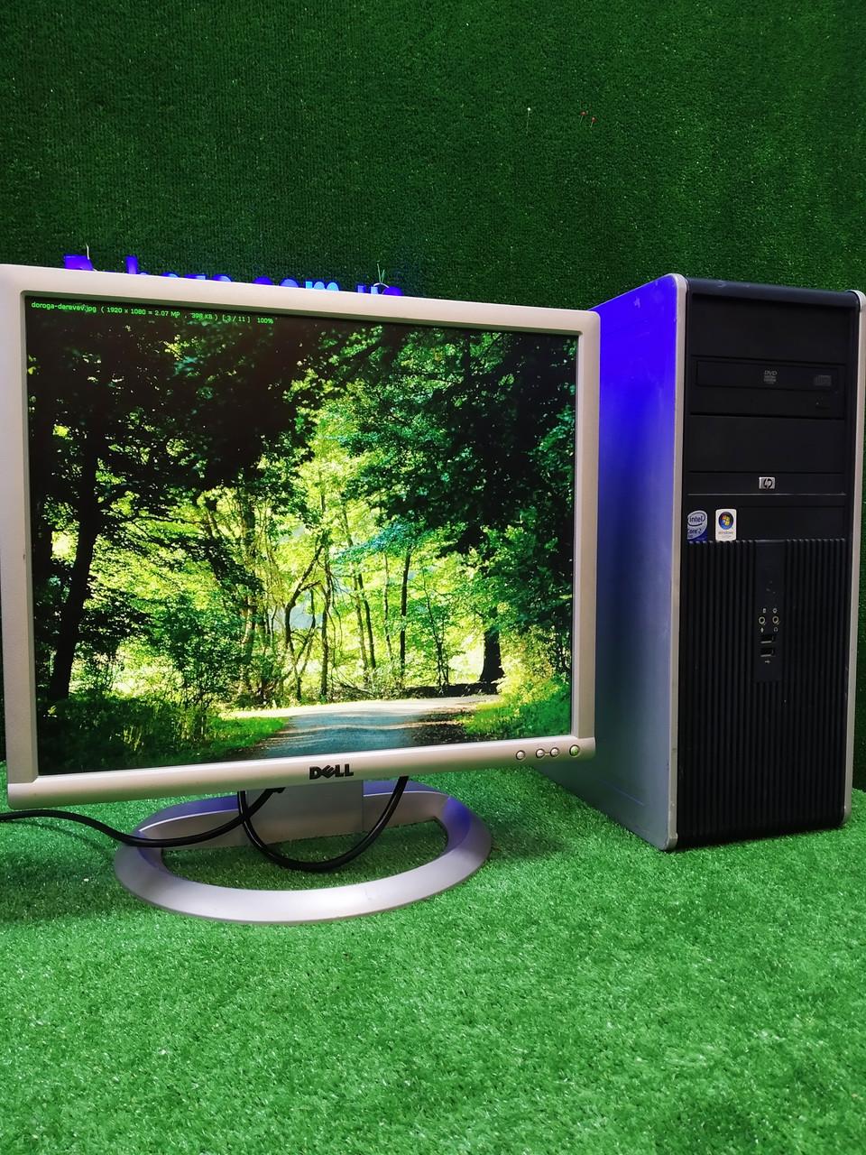 "Компьютер HP + монитор 19"" VA Dell, Intel  E7500 2.93Ггц, 4 ГБ, 160 ГБ Настроен! Есть Опт! Гарантия!"