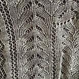 Платокажурный Колосок ш-00042-А, цвет белый, оренбургский пуховый платок, фото 4