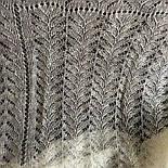 Платокажурный Колосок ш-00042-А, цвет белый, оренбургский пуховый платок, фото 5