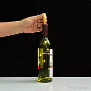 Светодиодная Гирлянда - Пробка на батарейках, 2м, 20 светодиодов: синий, розовый, разноцветный RGB, фото 2