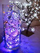 Светодиодная Гирлянда - Пробка на батарейках, 2м, 20 светодиодов: синий, розовый, разноцветный RGB, фото 5