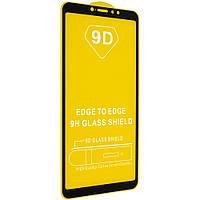 Защитное стекло 9D для Xiaomi Mi MAX3 - черный