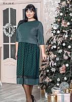/ Размер 52,54,56,58 / Женское нарядное платье из трикотажа с люрексом