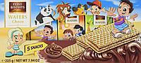 Детские вафли Gunz Feiny Biscuits с шоколадным кремом, 225 г, 5 штук