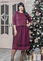 / Размер 52,54,58 / Женское нарядное платье из трикотажа с люрексом