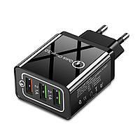 Сетевое зарядное устройство для быстрой зарядки 3 USB порта QC3.0 зарядный блок блочок зарядка для телефона 8E