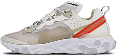 Мужские кроссовки Nike React Element 87 Sail Light Bone | AQ1090-100,  Найк Реакт Елемент