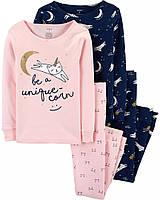 Детская пижама с кошками - единорожками Картерс для девочки (поштучно)