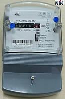 Электросчетчик NIK 2102-02.М2 5-60А 220В электронный однофазный однотарифный 2-х элементный (Украина)