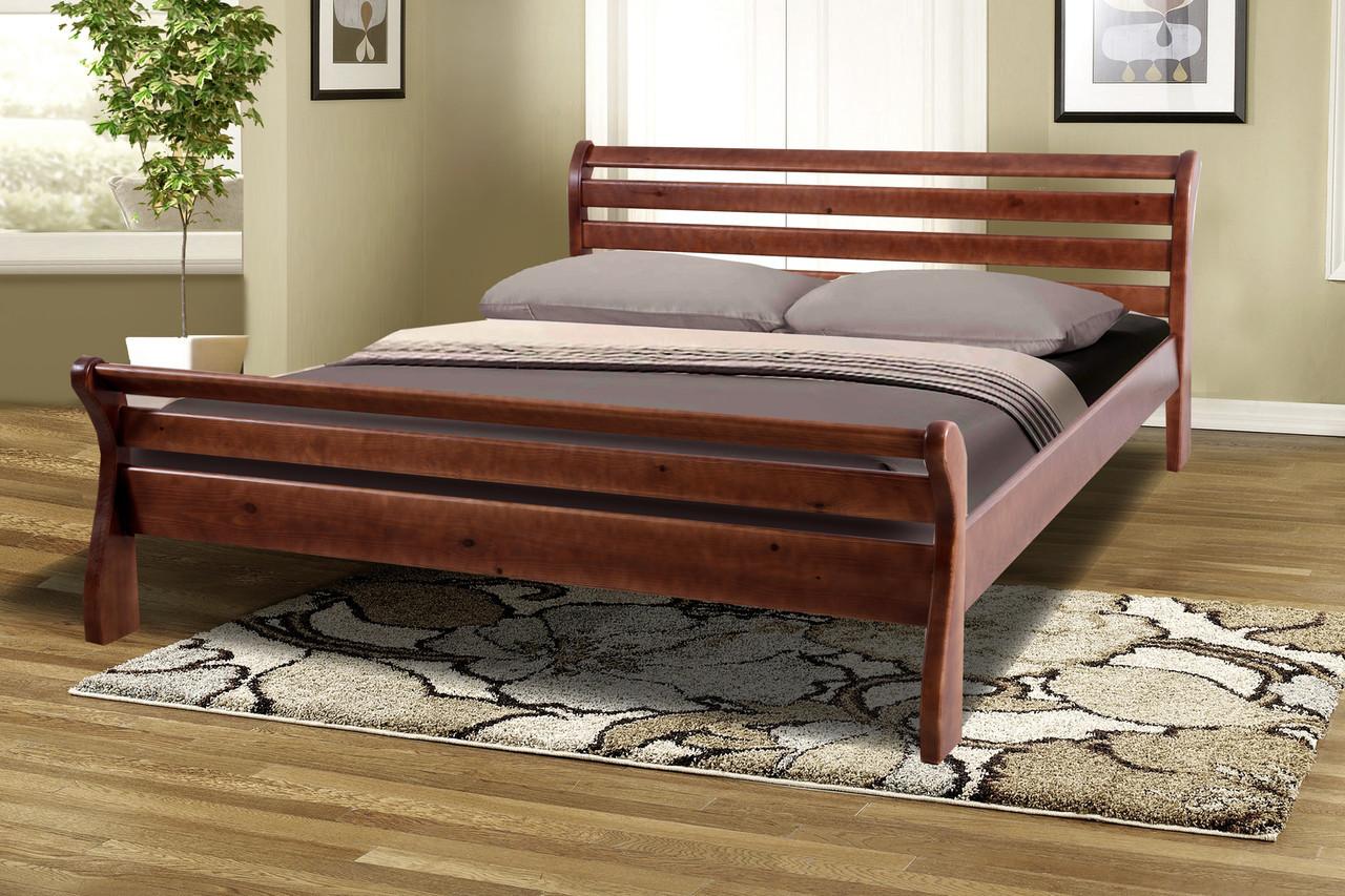 Кровать деревянная двуспальная Ретро-2 сосна 1,6