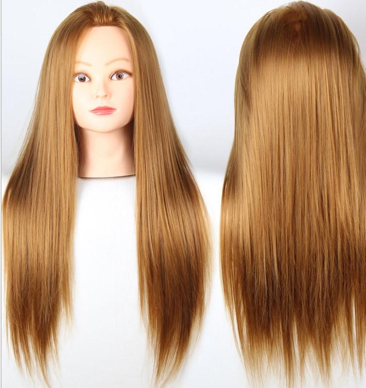 Учебная голова манекен для причёсок(Регулируемая подставка для манекена в комплекте) термо волосы